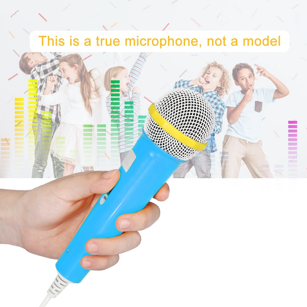 Children Microphone Toy Portable Kids Microphone for Music Video Storytelling Party Pink Childrens Gift