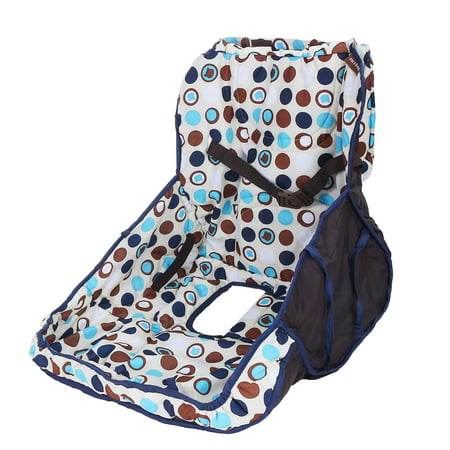 Shopping Cart Seat Cover Cushion Pad For Baby Stroller Kid Chair Package Included:1 x Shopping Cart CoverSpecifications:Type: Shopping Cart SeatPattern: SpotMaterial: Polyester + CottonSize: 50 x 40 x 22cmUsage: Open the anti-dirty cover and put it directly on the shopping cart seat. The two holes should be aligned with the seat and the foot.Features:It can also be used in a children's dining chair in the outside restaurant.It is not afraid that the baby will touch the dirt of the shopping cart and prevent bacterial infection.It is convenient to use and protect your baby to use our anti-dirty cover on the shopping cart seat.Notice:1.Please allow 1-2cm error due to manual measurement.Please make sure you do not mind before you bid.