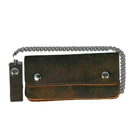 Leather Biker Billfold Chain 8