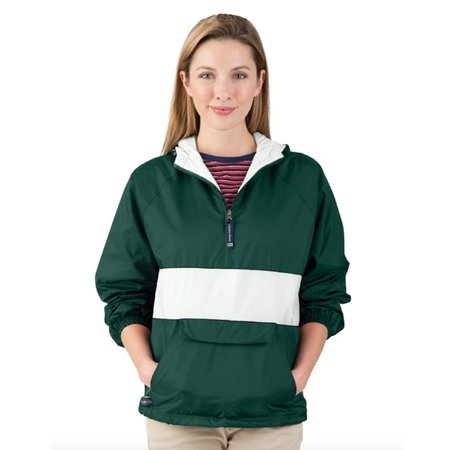 """The """"Classic Collection"""" Classic CRS Striped Nylon Pullover Jacket from Charles River Apparel"""
