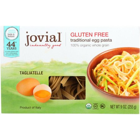 Jovial Traditional Egg Pasta Brown Rice Egg Tagliatelle, 9 Oz (Pack Of 12)