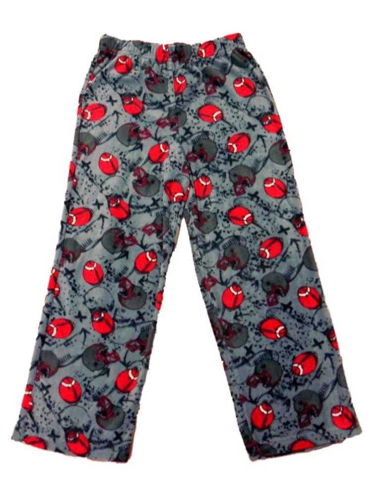 Jelli Fish Boys Gray Fleece Football Sleep Pants Pajama Bottoms