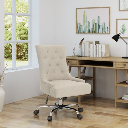 Noble House Home Office Fabric Desk Chair,