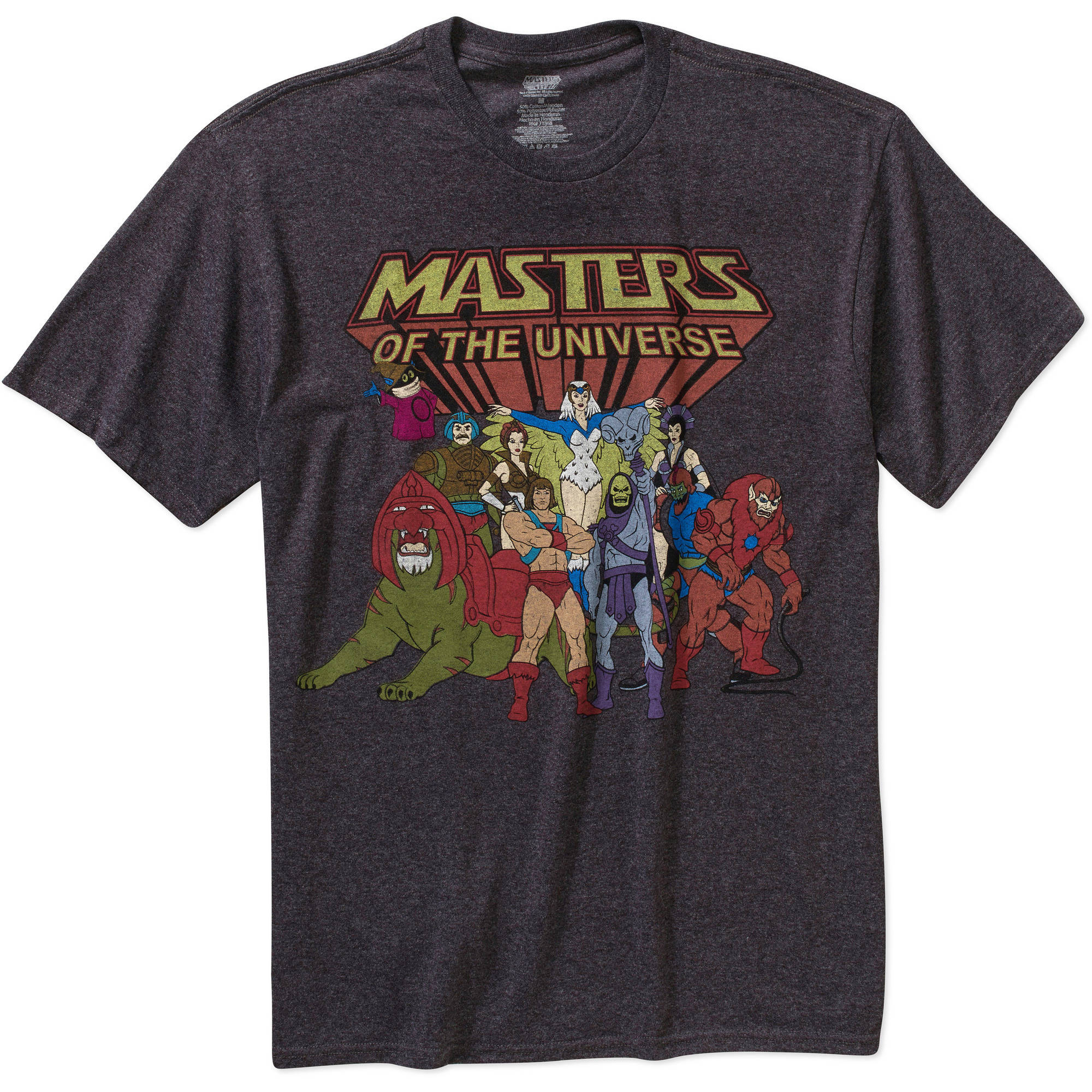 Masters Of Universe Group Big Men's Graphic Short Sleeve T-Shirt, 2XL
