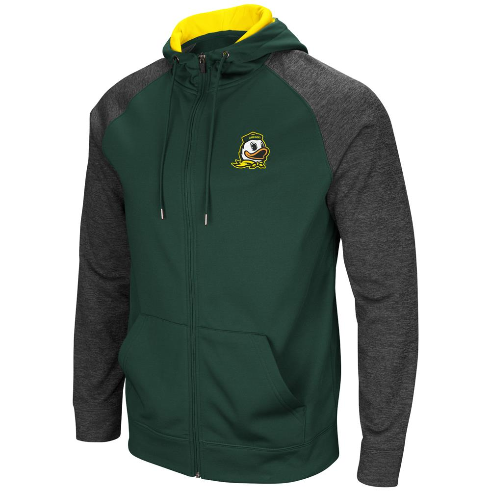 University of Oregon Ducks Men's Full ZipHoodie Fleece Jacket by Colosseum