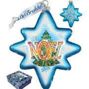 G Debrekht Holiday LED Noel 2014 Glass Ornament