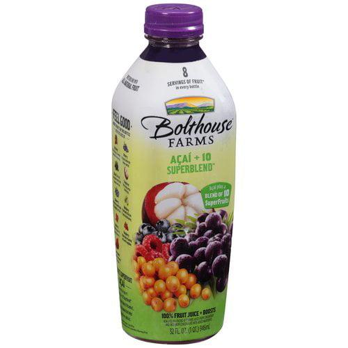Bolthouse Farms Acai + 10 Superblend 100% Fruit Juice, 32 fl oz