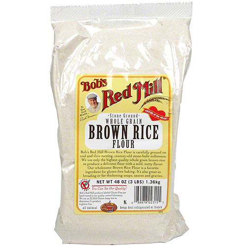 Bob's Red Mill Whole Grain Brown Rice Flour, 48 oz (Pack of 4)