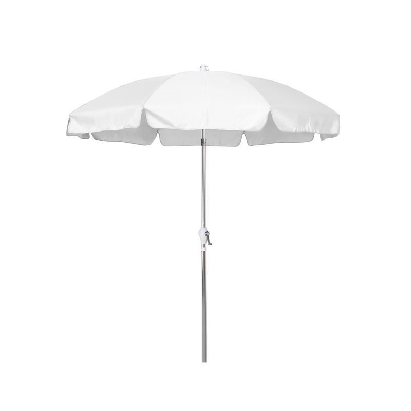 Sunline 7.5' Patio Market Umbrella in Olefin with Anodized Aluminum Pole Steel Wire Ribs... by California Umbrella