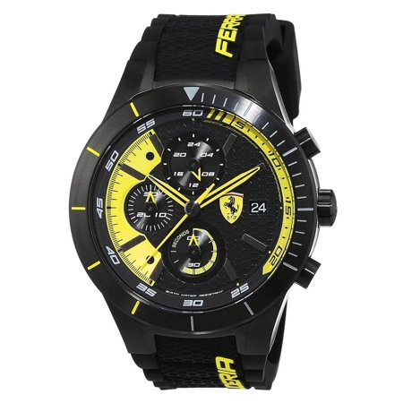 0830261 Men's RedRev EVO Black and Yellow Dial Chrono Watch ()