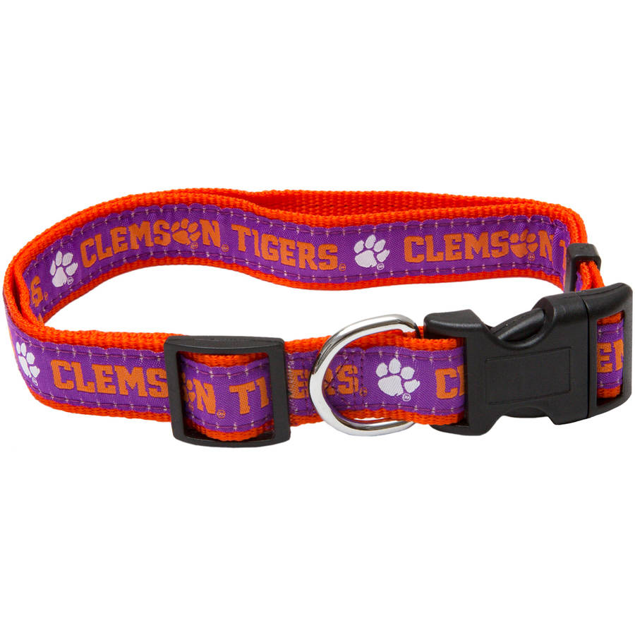 Pets First College Clemson Tigers Pet Collar, 3 Sizes Available, Sports Fan Dog Collar