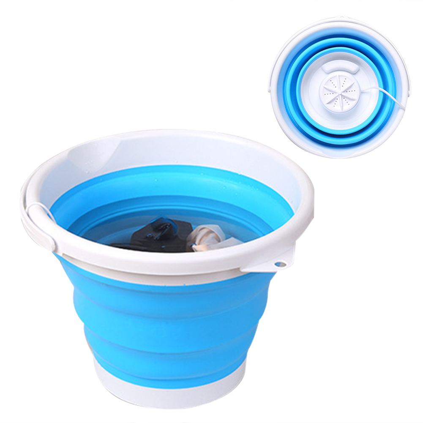Portable Mini Turbo Washing Machine,Portable Washing Machine with Foldable Tub Compact Ultrasonic Turbine Washer Lightweight Travel Laundry Washer USB Powered Camping Dorms RV Business Trip