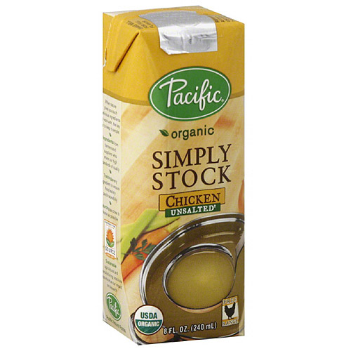 Pacific Organic Simply Stock Unsalted Chicken Stock, 8 fl oz, (Pack of 12)