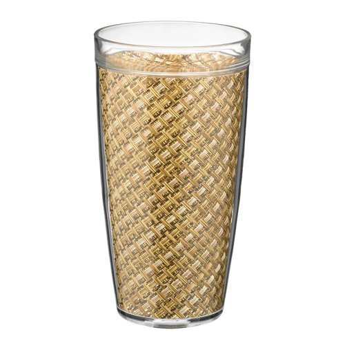 Kraftware Woven 22 oz. Double Wall Insulated Drinkware - Set of 4