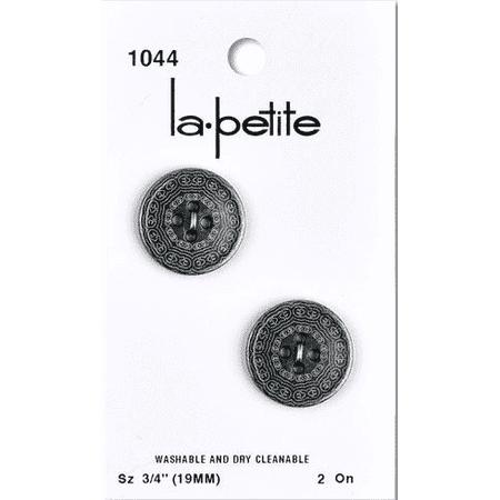 La Petite Gun Metal 3/4 in (19MM) (Shank La Petite Buttons)