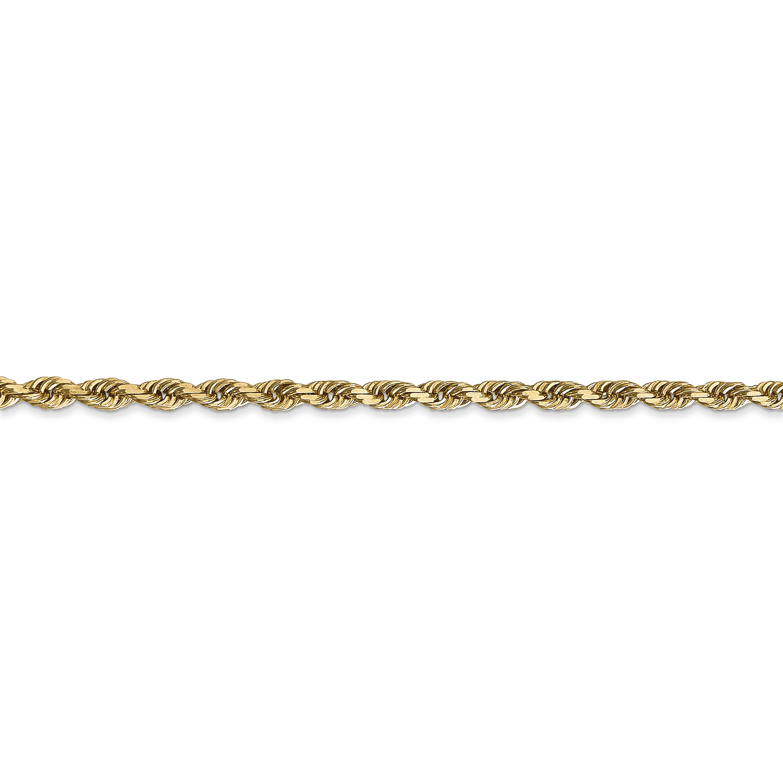 14K Yellow Gold 3.0mm Diamond Cut Quadruple Rope Chain 24 Inch - image 2 of 5