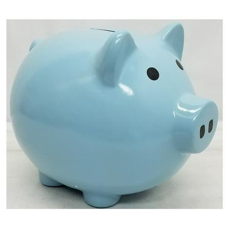 Blue Ceramic Piggy Bank Large 8