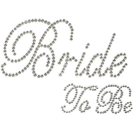 Unik Occasions Rhinestone Bride to Be Sticker, Clear