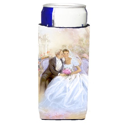 Wedding Couple Kiss Michelob Ultra beverage insulators for slim cans APH8292MUK