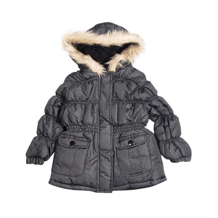 Velvet Chic Girls Winter Jacket BLACK / 3T
