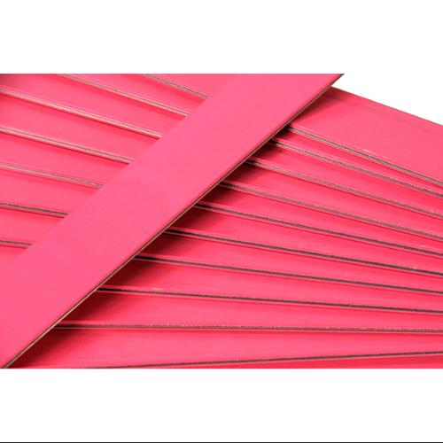 Club Pack of 25 Hot Pink Colored Wooden Straight Edges with Metal Strips - 12""