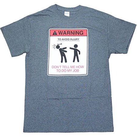 Warning Job Dad Father Work Construction Engineer Auto Mechanic Car Mens Funny Humor Pun Adult Men