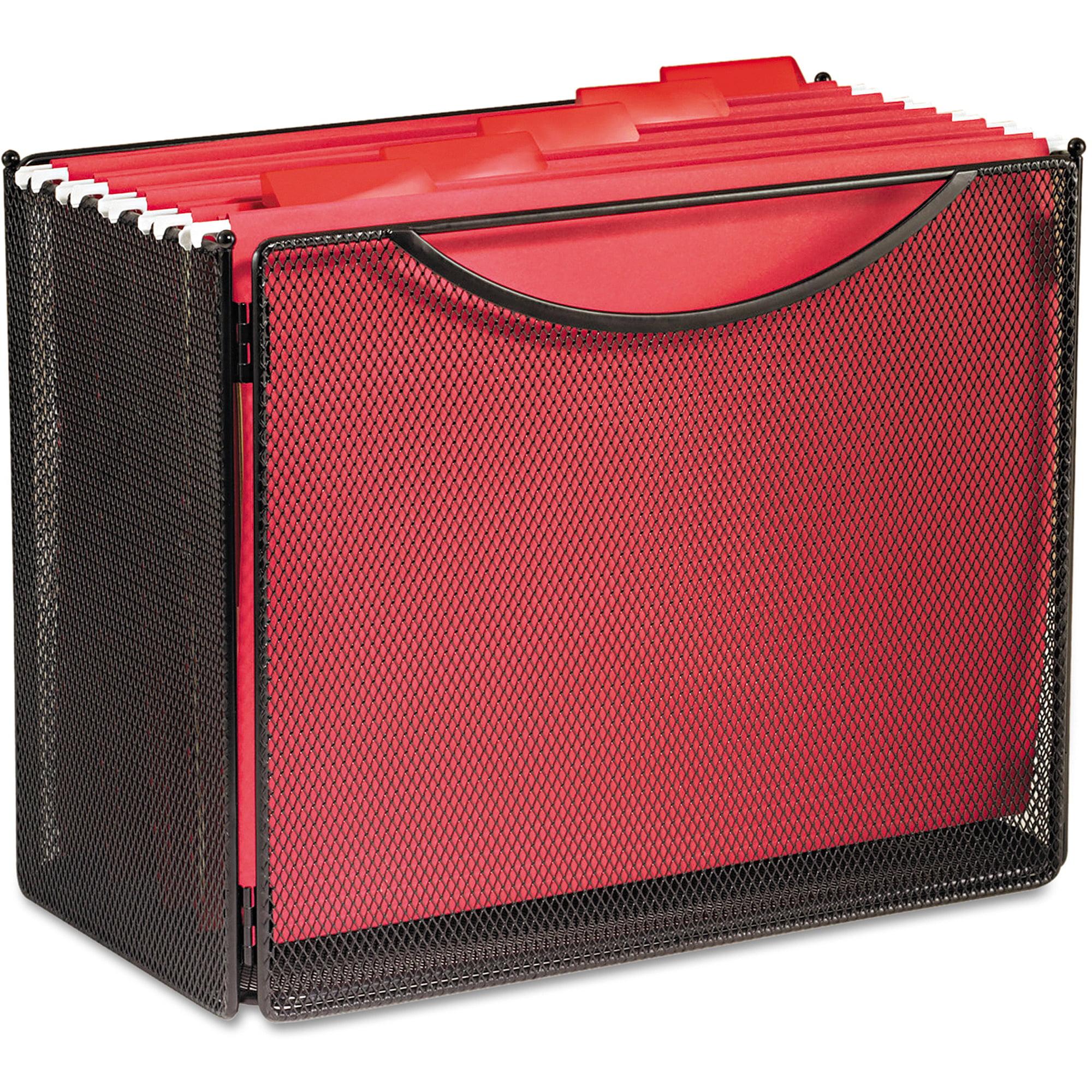 Safco Desktop File Storage Box, Steel Mesh, 12-1/2w x 7d x 10h