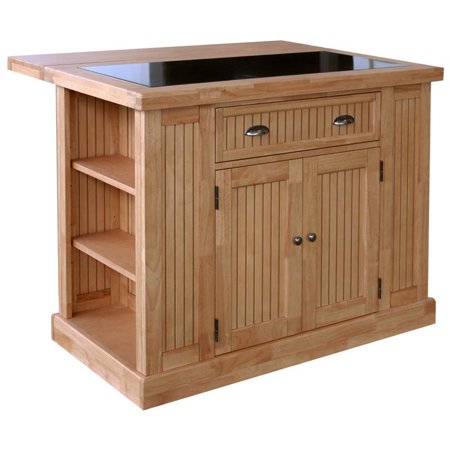 Home Styles Nantucket Granite Top Kitchen Island in Natural Maple