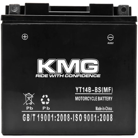 KMG YT14B-BS Battery For Yamaha 1700 MT-01 (EU) 2005-2012 Sealed Maintenance Free 12V Battery High Performance SMF OEM Replacement Powersport Motorcycle ATV Snowmobile Watercraft - image 2 of 3