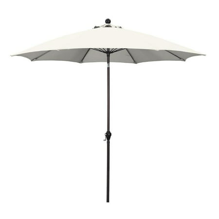 Sunline 9' Patio Market Umbrella in Polyester with Bronze Aluminum Pole Fiberglass Ribs 3-Way Tilt Crank Lift ()
