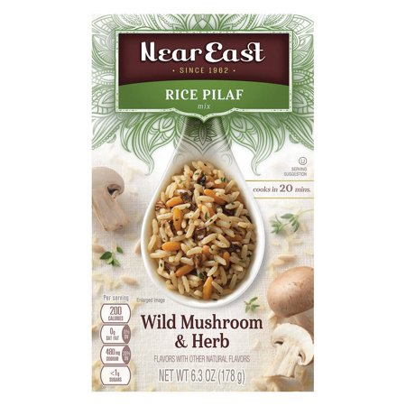 Mushroom Pilaf - Near East Rice Pilaf Mix - Mushrooms And Herbs - Pack of 12 - 6.3 Oz.