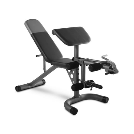 Weider XRS 20 Adjustable Olympic Bench with Removable Preacher Pad, 610 Lb. Weight Limit