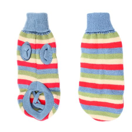 Unique Bargains Charming Striped Pet Puppy Dog Clothes Dog Apparel Sweater Size (Charming Stripe Collar)