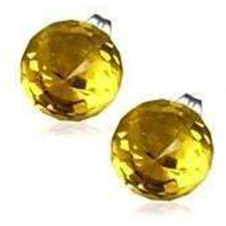 Disco Jewelry Accessories (CLEARANCE - Disco Ball Faceted Crystal Stud Earrings - Eight Colors! Honey:)