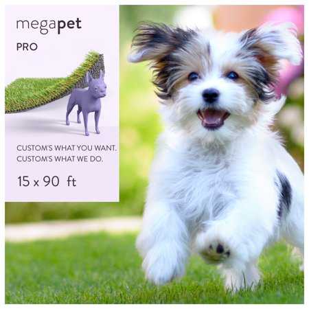 MegaGrass MegaPet Pro 15 x 90 ft Artificial Grass for Pet Dog Potty Indoor/Outdoor Area Rug