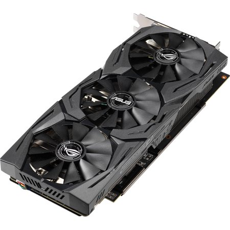 ASUS ROG Strix Radeon RX 590 8G Gaming GDDR5 DP HDMI DVI VR Ready AMD Graphics Card (ROG-STRIX-RX590-8G-GAMING)