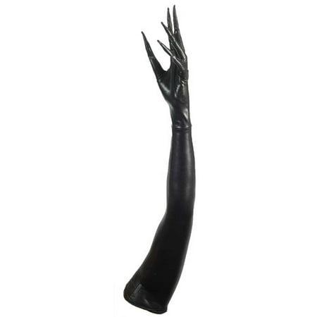 Long Sleeve Black Gloves (Morris Costumes FM73417 Long Fingered)