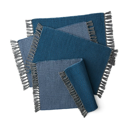 Discontinued - Last Chance Clearance! Better Homes & Gardens Double Weave Fringe Reversible Placemats, Set of 4