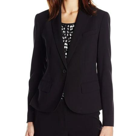 Anne Klein NEW Black Blazer One-Button Women