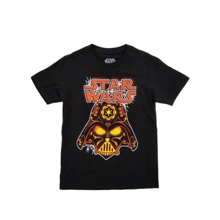 Star Wars Boys Black Darth Vader Jack-O-Lantern Halloween T-Shirt](Star Wars Gifts For Boys)