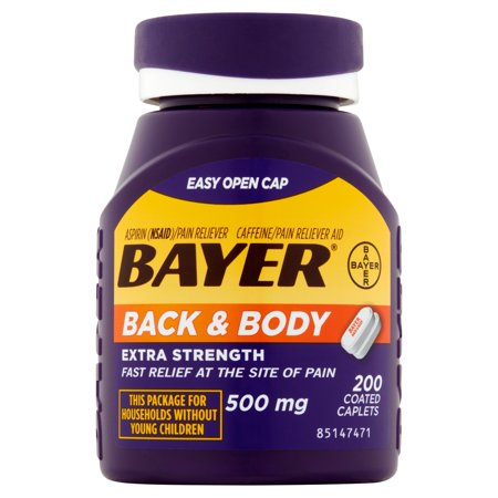 Bayer Back   Body Extra Strength Pain Reliever Coated Caplets  200 Ct