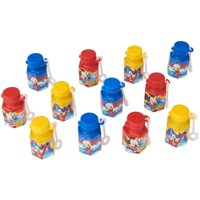 Mickey Mouse Party Favor Mini Bubbles, 12ct