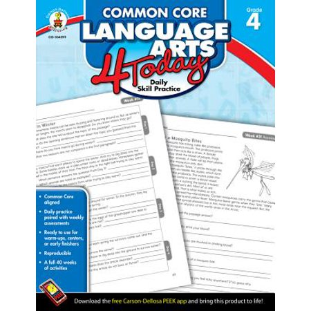 Daily Language Practice Book (Common Core Language Arts 4 Today, Grade 4 : Daily Skill Practice)