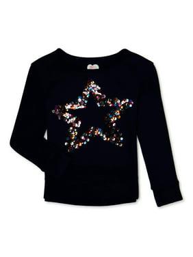 365 Kids from Garanimals Girls Embellished Graphic Sweatshirt, Sizes 4-10