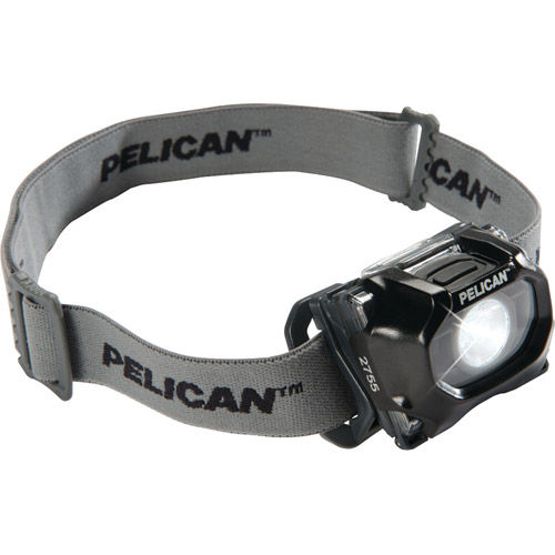 Pelican 027550-0100-110 72-Lumen 2755 Safety Approved 3-Mode LED Headlight, Black