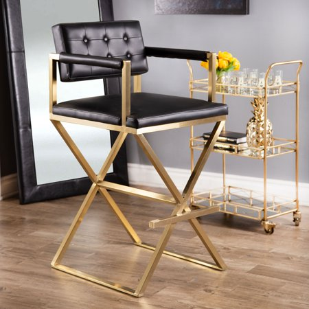 Devon & Claire Jeffrey Director Bar Stool, Black