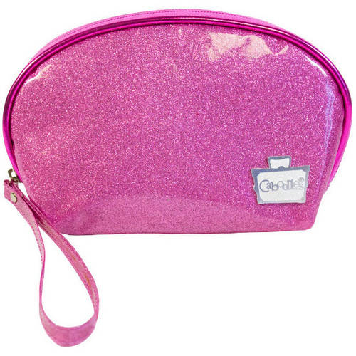 Caboodles Glitter Coated Wristlet, Peony Pink