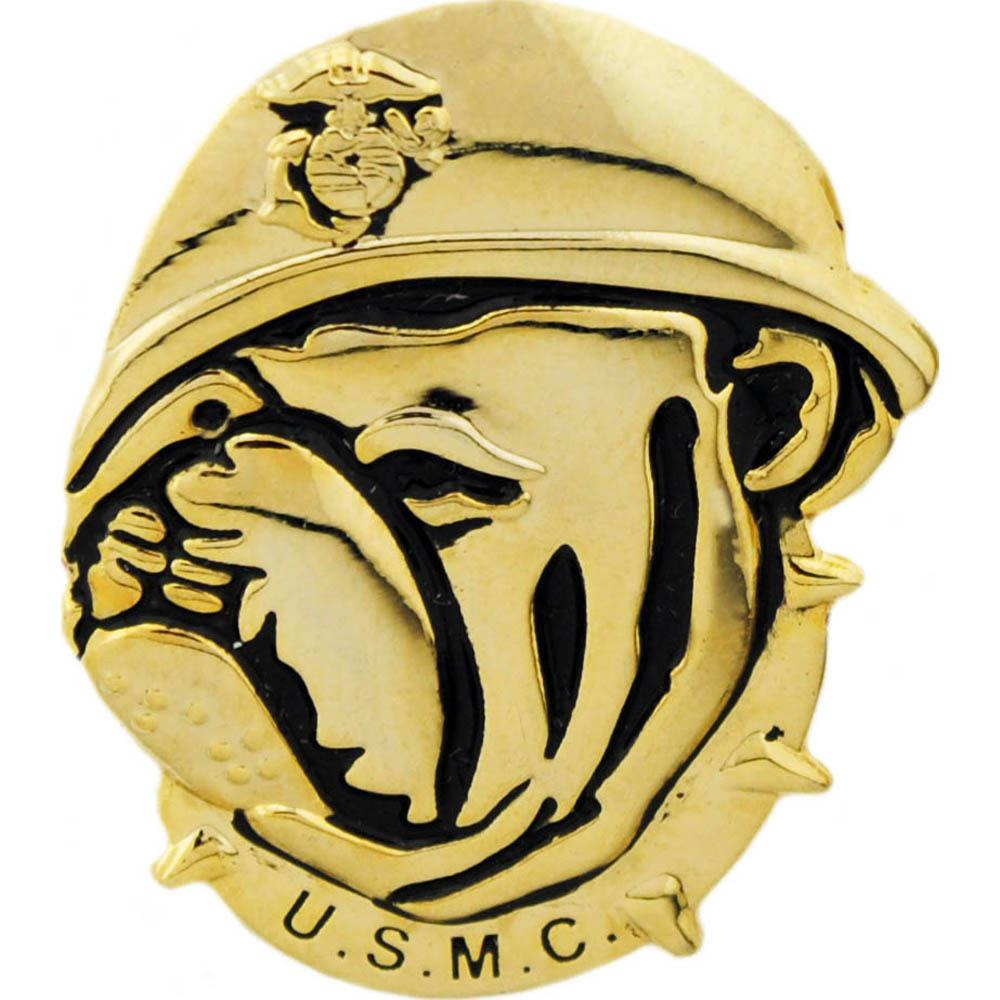 U.S.M.C. Bulldog Emblem Pin 1