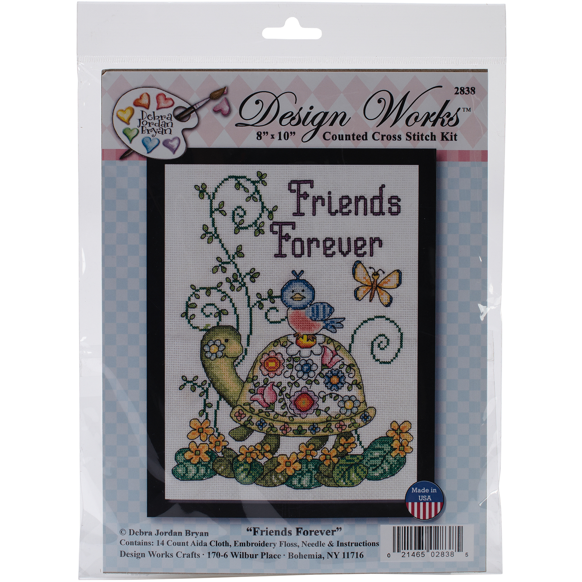 "Friends Forever (Turtle) Counted Cross Stitch Kit, 8"" x 10"", 14-Count"