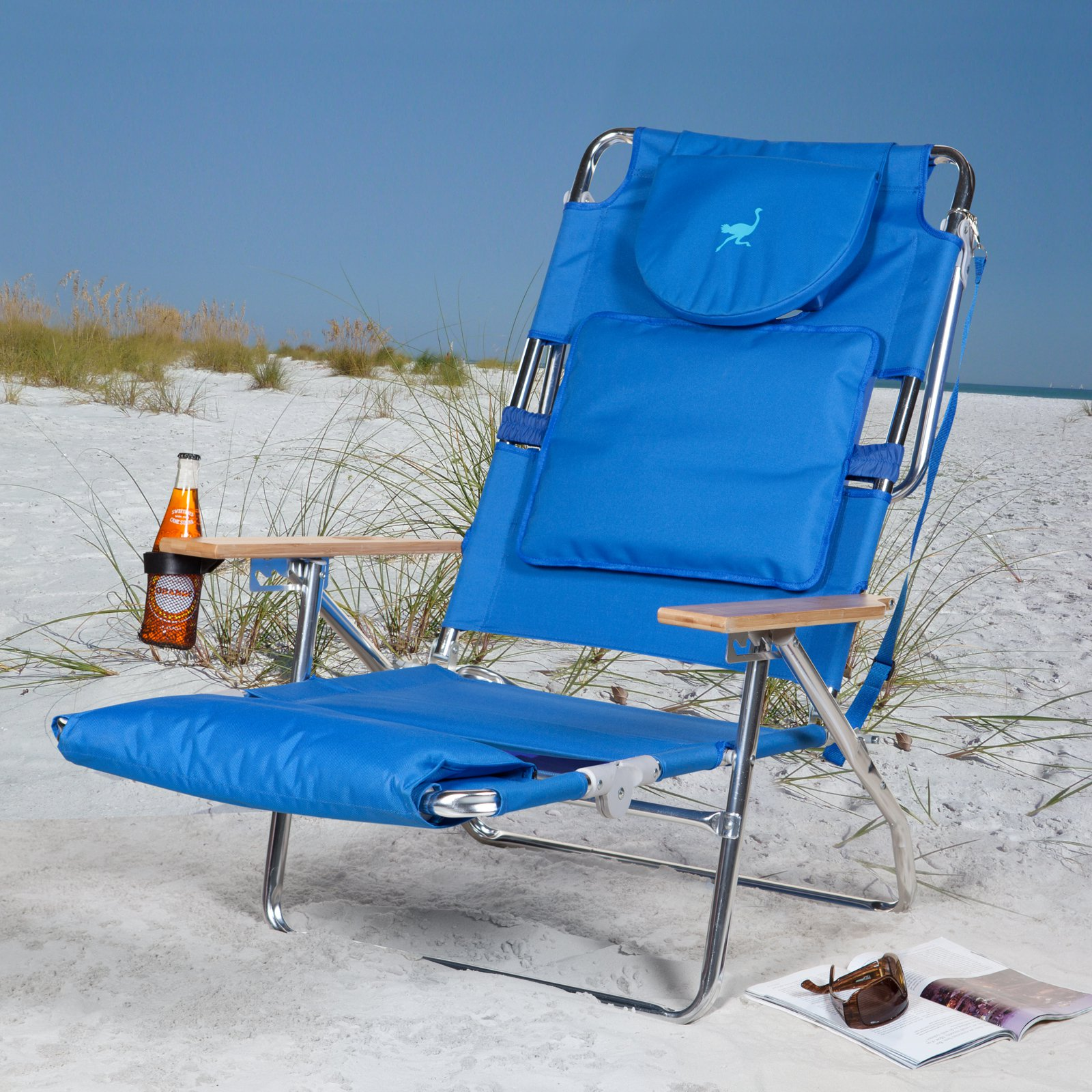 Superbe Deluxe Padded Ostrich Sport 3 N 1 Beach Chair   Walmart.com